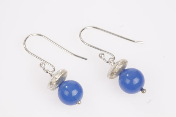 blauwe Agaat met zilver 925 ufo