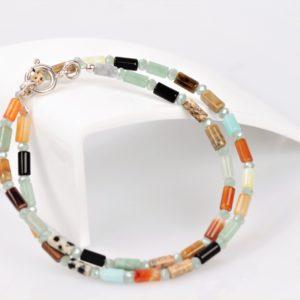 Multicolor Halfedelstenen Armband